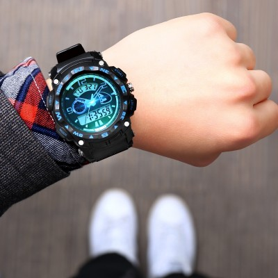 The port is zgo watches male student movement electronic watch s han edition noctilucent waterproof youth high school junior high school