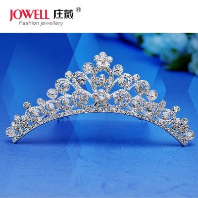 Korean bride bride headdress ornaments crown size Alloy Jewelry Wedding crown diamond jewelry