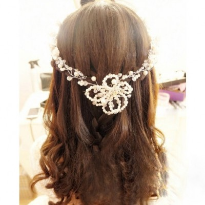 Korean bride headdress handmade wedding jewelry wedding wedding dress hair styling accessories