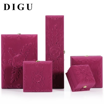 European style purple flocking jewelry boxes, proposals, rings, boxes, pendants, bracelets, jewelry boxes