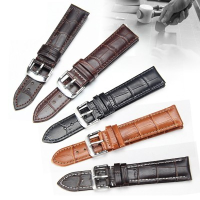 Leather watch band male pin buckle female rose Jin with Longines CASIO CK Tissot DW watch strap