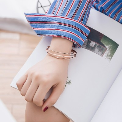 Korean hand on simple personality students tide Sen Department of fresh bestie all-match jewelry bracelet bracelet multi female