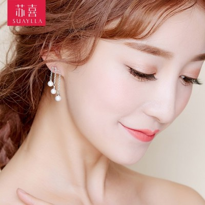 The bride Earrings Korean White Pearl Earrings earpins type Earrings Jewelry Jewelry Wedding wedding accessories