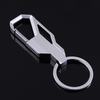 Creative men's waist hanging key buckle, auto key chain, stainless steel metal ring pendants, small gifts