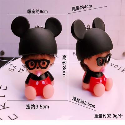 Lovely bell Kiki Keychain Korea creative female birthday gift bag pendant doll car key chain