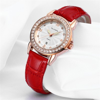 Ms true belt watch female table Han edition girls watch luminous diamond fashion Quartz watch