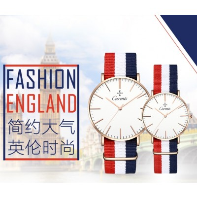 Han edition tide contracted fashion watches female male students couple watch waterproof male ladies watch quartz expression
