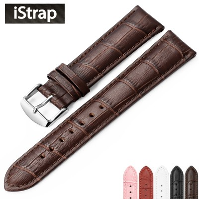 Istrap band male Leather strap female cowhide pin buckle for longines tissot casio DW beauty degrees