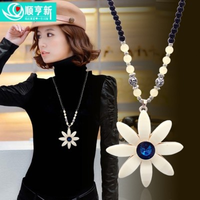 Japan and South Korea female version of qiu dong long sweater chain necklace in Europe and the exaggerated pendant clothing joker accessories accessories