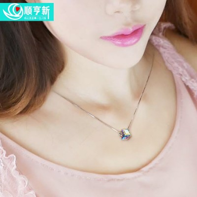 Ms crystal necklace pendant han edition fashion joker contracted clavicle short chain chain accessories accessories gifts