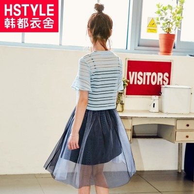 Korean clothing house, 2017 summer new women's skirt, small fresh set skirt, two piece dress, OY6198 Hwan