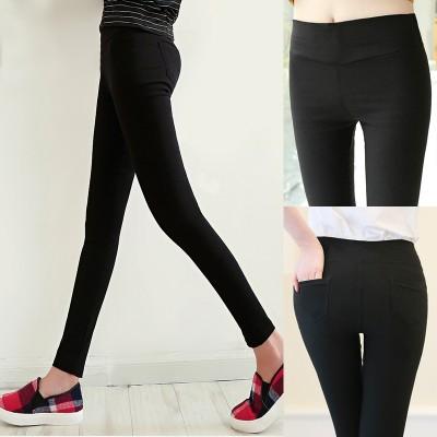 Nanjiren Leggings Pants 2017 new wear thin thin Korean nine spring and summer all-match black feet