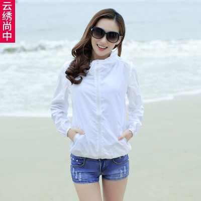 2017, the new summer sun clothing, air-conditioned sweater, long sleeved big yards, beach clothes, short jacket, women's clothing thin skin