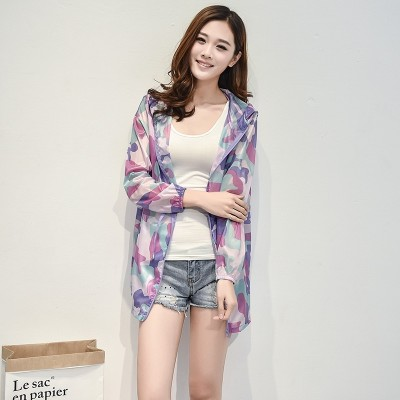 2017 new summer sun protection clothing female Korean thin size coat loose and long sleeve shirt, long wear sunscreen