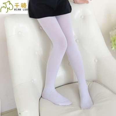 Girls Dance socks, white tights, summer thin, children's grounding socks, big children stockings, girls practice socks