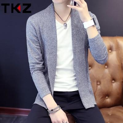 2017 spring and autumn Korean men thin sweater sweater cardigan sweater coat young men tide