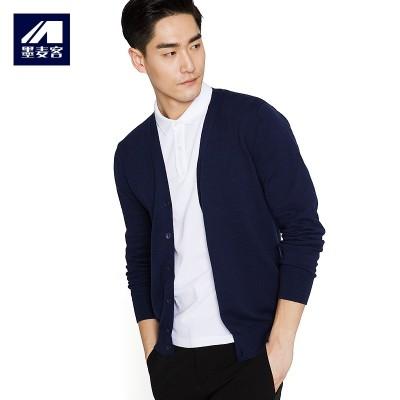 Ink Mens spring men Mack V neck knit shirt cardigan coat thin long sleeved sweater slim Korean male tide