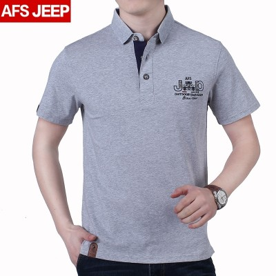 AFS JEEP short sleeve t-shirt men's wear, 2017 summer turndown, cotton men's shirts, T-Shirts, T-Shirts, polo shirts