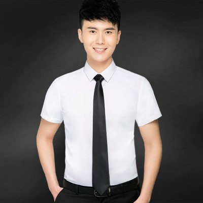 European short sleeved white shirt Paul summer business casual DP self-cultivation shirt shirt tooling occupation male tide