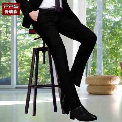 Men's trousers summer slim thin business casual loose young black suit dress pants long occupation