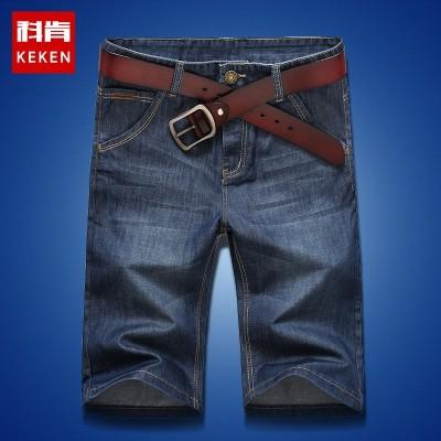 Denim shorts five male pants summer thin breeches male 5 pants size Korean men loose straight pants