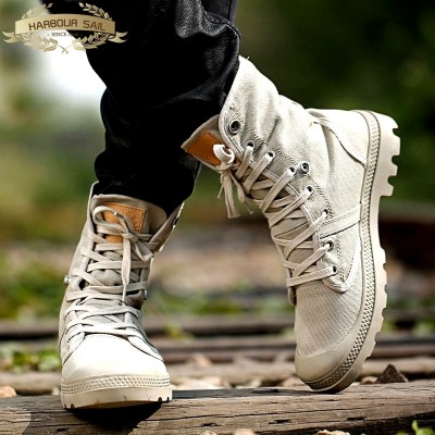 High shoes canvas shoes men boots high boots Martin couple new summer dress shoes and casual shoes Banggong