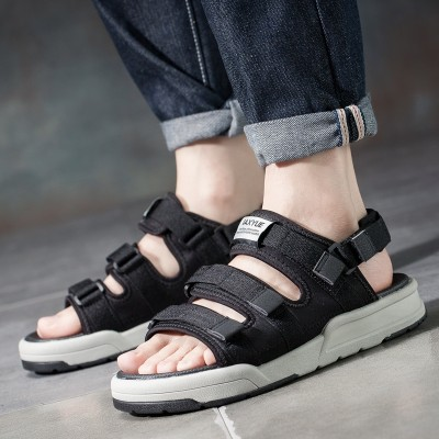 Sandals, men's beach shoes, 2017 new student sports, summer leisure port wind, Korean couple, cool tow, dual-use