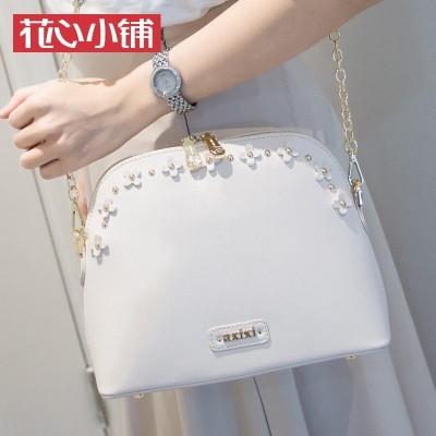 Flower shop 2017 summer new Korean flower chain bag shell Bag Shoulder Messenger Bag Fashion Handbags