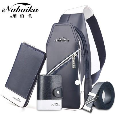 Bai Na card man chest pack Leisure Bag Satchel Bag male male sports backpack bag Korean Trend