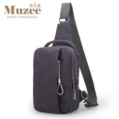 And Yi chest pack men Korean tide Bag Satchel Leisure Canvas Bag Backpack Purse Shoulder Bag man bag