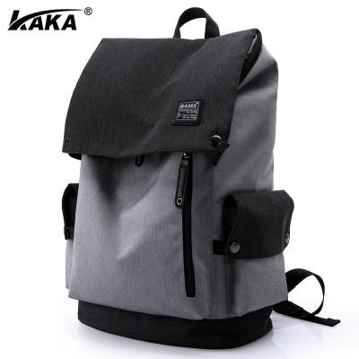 Kaka men's shoulder bag, male Korean version, leisure backpack, male college student bag, male travel bag, computer bag, men's bag