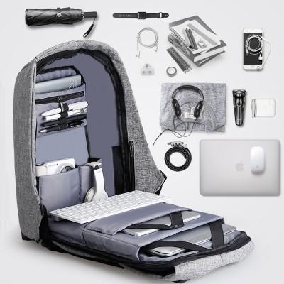 Double bag computer bag, multifunctional anti-theft schoolbag, student backpack, shoulder bag, travel & leisure business