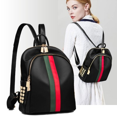 Oxford fashion leisure backpack backpack cloth bag bag Korean female mummy all-match leather 2017 new summer