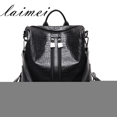 Ms. backpack female Korean women bag summer 2017 new tide fashion personality all-match Mommy Pu Backpack Bag