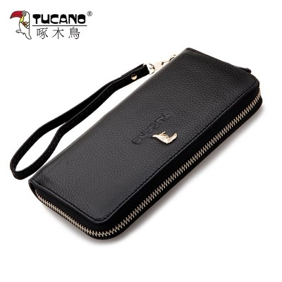 Woodpecker Ladies Purse New Leather Wallet Zipper female long leather female bag with large capacity.