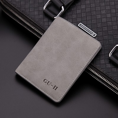 Male short thin man purse wallet wallet retro student Cross Leather Purse young men's personality tide