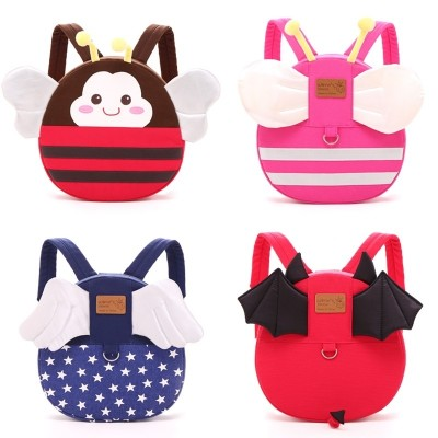 Kindergarten bags, children's bags, 1-3-5 years old insects, male and female children's shoulder bag, baby anti lost Backpack