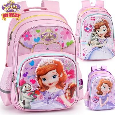 Disney pupil bag girls 1-3-4 grade girl Princess Sophia burden child backpack 6