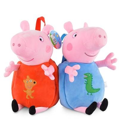 Piggy, Paige, George, men and women, Tong Baobao, children's bags, cute cartoon toys, backpacks, kindergartens