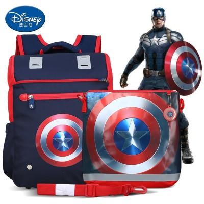 Disney pupil bag boy 1-3-5 grade American captain boy backpack child 6-12 years old 4