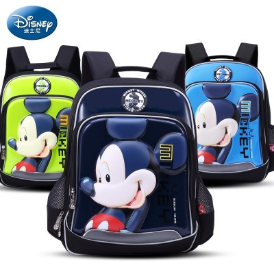 Disney bags, pupils, boys and girls, backpacks, Grade 1-3, Mickey bag, 6-12 years old, female Backpack