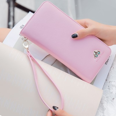 Hand bag purse female long 2017 new Korean fashion multifunctional change package bag zipper wallet