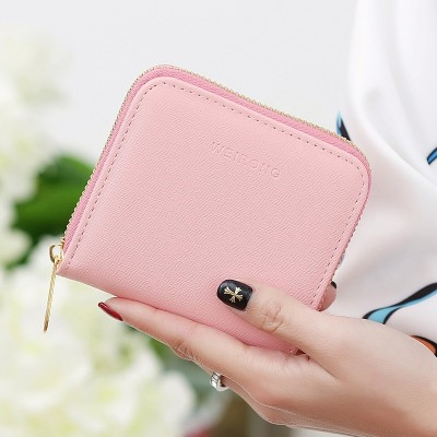 Short purse, short lady, Korean zip, zero wallet, student mini bag, coin bag, simple 2017 new style