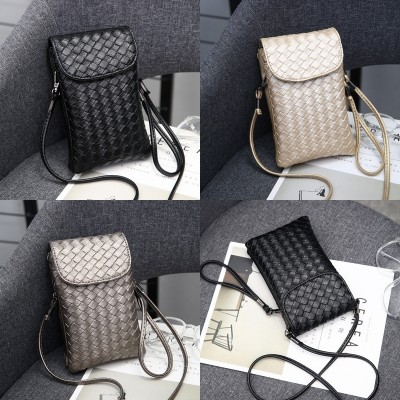 The Korean version of the new all-match zero wallet mobile phone bag hanging neck shoulder bag small hand mini mobile phone bag female Satchel