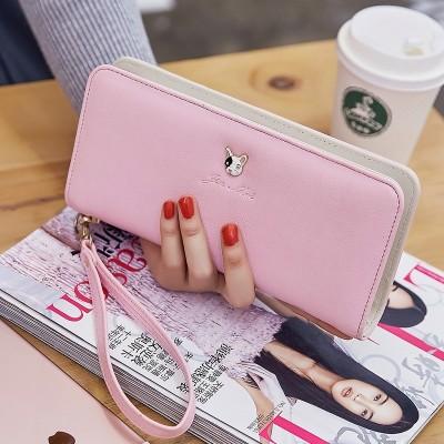 Long wallet, purse female Korean fashion handbags female zero wallet card package simple handbag 2017 new female
