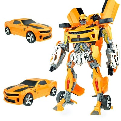 Transformers: transformers 5 bumblebee police car robot model manual shape-shifting toy 4