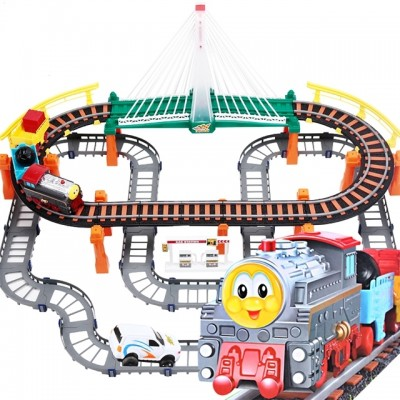 Li xinthomas a small train set can charge an electric train for children's toy car