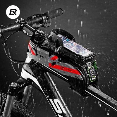 Rock brothers bicycle bag, front beam bag, upper tube bag, mobile phone waterproof saddle bag, mountain bike fittings, equipment