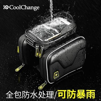 Cool change bike bag, touch screen, mountain bike, saddle bag, top bag, front beam bag, mobile phone bag, riding equipment fittings