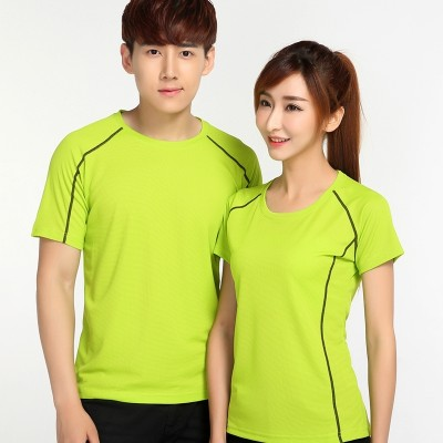 Sports speed drying T-shirt, men's summer outdoor speed drying clothes, breathable large size, short sleeved shirt, women